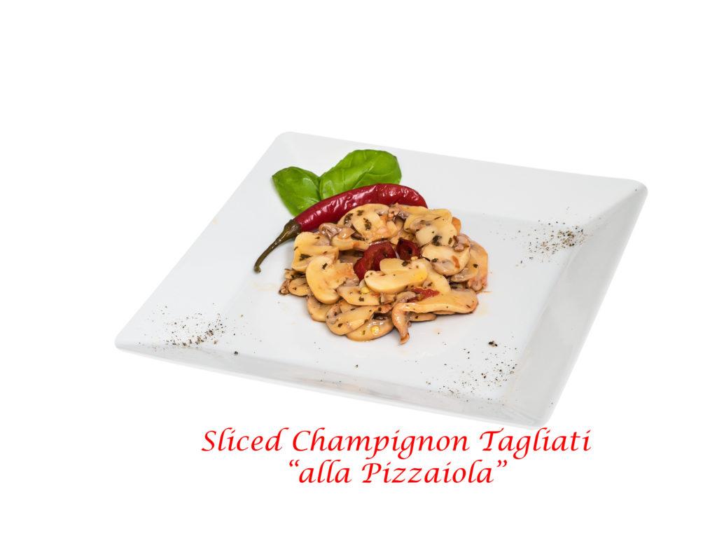 funghi champignon tagliati pizzaiola
