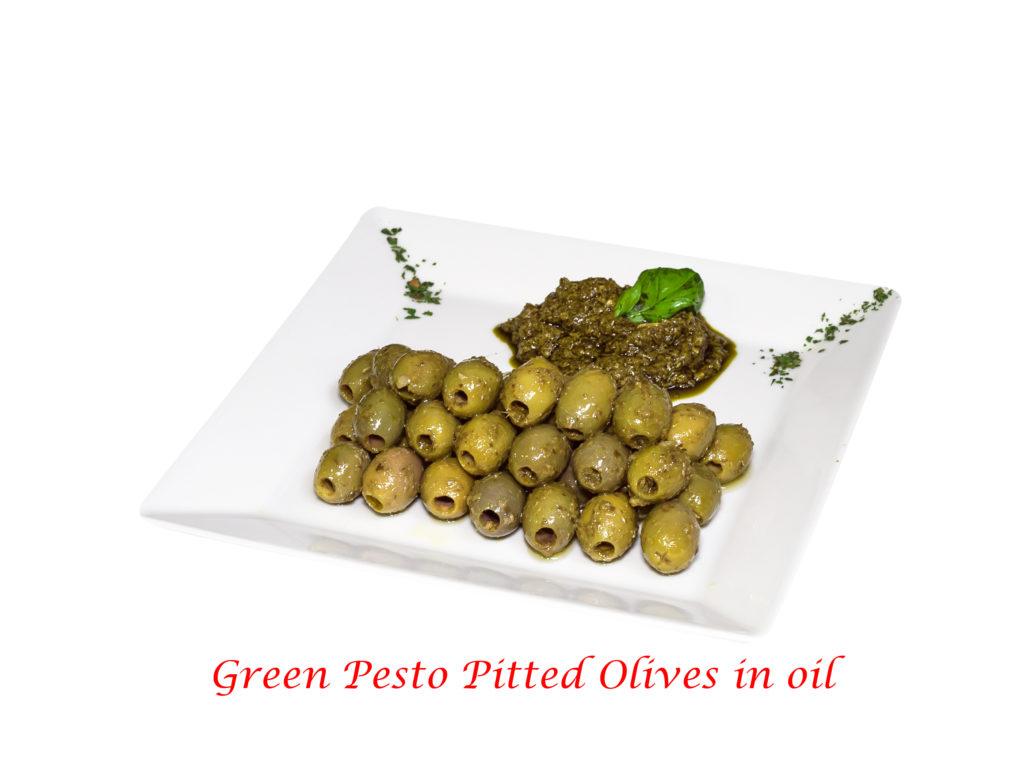 olive denocciolate al pesto verde